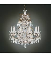 wildwood lamps gold and crystals chandelier in old gold finish on brass 2263 photo