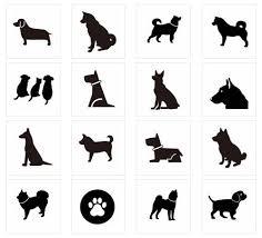 2018年賀状無料イラスト 犬のシルエット 犬のシルエット 無料画像 A