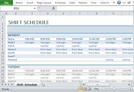 Work Shift Scheduling Excel Spreadsheet For Scheduling Employee Shifts Inventory
