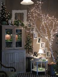 Little White Christmas Lights Limb Spray Painted And White Lights Christmas Decorations