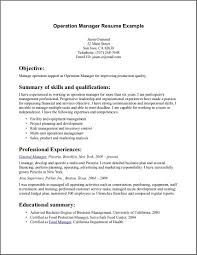 resume summary example bidproposalform com resume summary example operation manager resume example