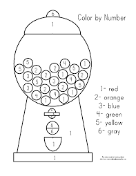 Great for preschool, daycare, kindergarten, homeschool, and more. Gumball Machine Color By Number Prek Colouring Pages Sketch Coloring Page Preschool Colors Preschool Activities Numbers Preschool