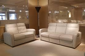 natuzzi editions b938 cream highback recliner couch
