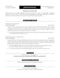 Perfect Accounting Resume Junior Accountant Resume Accountant Resume