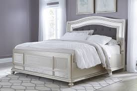 Silver Furniture Bedroom B650 Bedroom In Silver Finish By Ashley Furniture