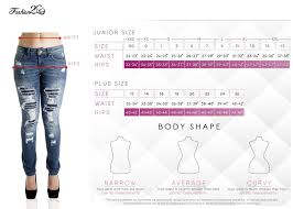 Plus Size Jeans Chart Sf9 95250ms Plus Size Butt Lifting Levanta Cola Mid Waist Skinny Jeans Sf9 95250ms