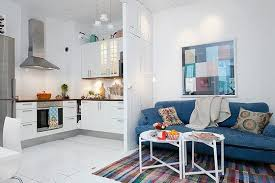 furniture for flats. you can try the scandinavian studio apartment style above that size probably less than yours but it fit everything inside divider such as walls and furniture for flats
