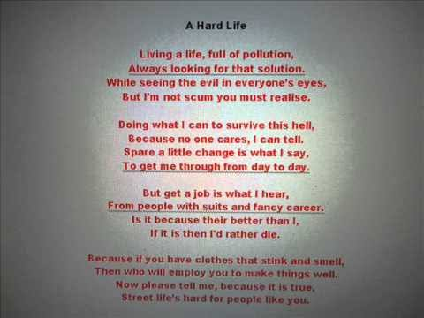 poem about life with rhymes