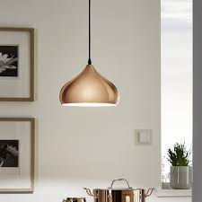 kitchen pendant lighting uk. Unique Lighting Eglo Hapton Polished Copper Pendant Light  Kitchen Lighting From Dusk  UK Inside Uk C