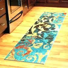 orange and white area rug runner bathroom floor runners 9 ft rugs collection hand swirl pattern like this item area rugs runner