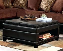square faux leather coffee table ottoman round storage white
