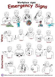 Asl Sign Chart Emergency Signs Poster Sign Language Alphabet Sign