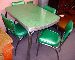 Image of retro kitchen table and chairs set