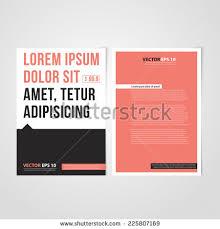 paper flyer flyer template back front design brochure stock vector 225807169