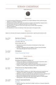 Equity Research Intern Resume Samples Research Associate Job