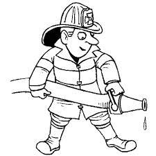 fireman extinguishing fire in community helpers coloring page   netartfireman extinguishing fire in community helpers coloring page