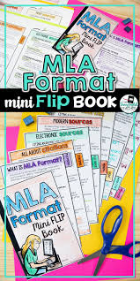 Mla Format 8th Edition Mini Flip Book My Tpt Store 9th Grade