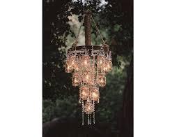 mason jar chandelier candle