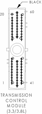 transmission control module 3 3l 3 8l black 60 way
