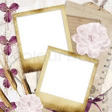 Paper Flower Frame Blank Photo Frames On Wallpaper Stock Photo Colourbox