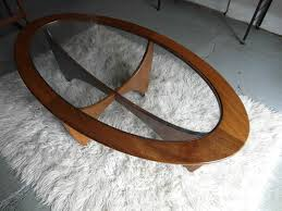 g plan astra oval coffee table with original glass 125 sold