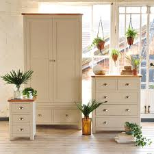 Quality Oak Bedroom Furniture Lundy Stone Grey 2 Drawer Wardrobe Beautiful Nice And Style