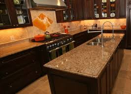 Backsplash For Santa Cecilia Granite Countertop Inspiration Travertine Backsplash With Santa Cecilia Countertop KitchenDining