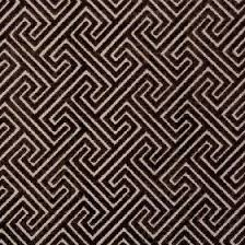 Cosimo - Chocolate - Velvet fabric with geometric patterns in black and  dark brown.