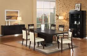 rectangle glass dining room table. Dining Room Sets Contemporary Dark Brown Carpet On White Tile Floor Leather Chair Unique Black Table Rectangle Glass H