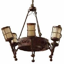 Burg Kronleuchter Schmiedeeisen Fackel Leuchten Deckenlampe