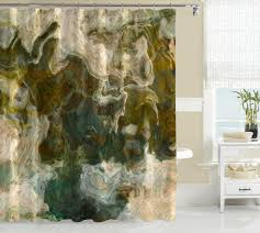 gray and blue shower curtain. contemporary shower curtain brown olive khaki beige gray blue-green and blue