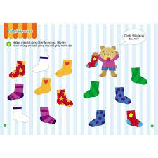 Sách - Toán Tư Duy - Trò chơi toán học - Dành cho trẻ em từ 3-4 tuổi. Học  mà chơi, chơi mà học