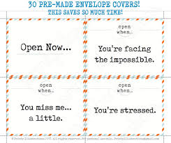 little envelope template 30 open when letter pre made printables print instantly to
