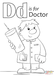 Letter D Is For Doctor Coloring