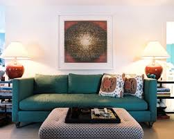 living room ideas with a teal sofa