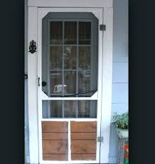 inch storm door wood design with pet 30 retractable screen