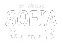 Nome Sofia Da Colorare Scuola Colori Nomi E Bambini