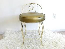 makeup stool height vine gold br metal vanity chair gcucpop
