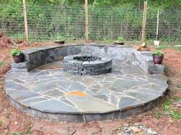 how to build a circular fire pit step