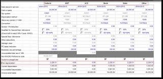 Rental Template Excel Depreciation Schedule Templates For Rental Property Car