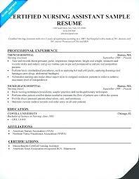 Resume For Nursing Assistant Nurse Aide Resume Nurse Aide Resume