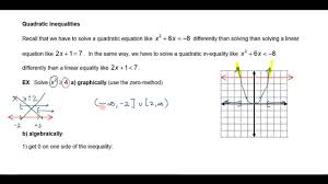 solving quadratic non linear inequalities part 1 clark s math channel