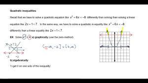 solving quadratic non linear inequalities part 1 clark s math channel