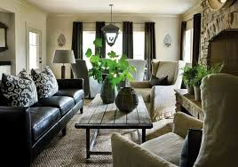 Black Leather Sofa Decorating Ideas Dark Curtains For The Home Magnificent Leather Couch Living Room Ideas Style