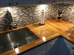attractive butcher block countertop backsplash for medium size of kitchen gray mosaic tile backsplash butcher block