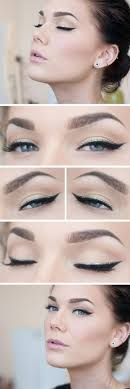 11 simple winged eyeliner with glitter simple and easy eye makeup ideas