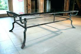 wrought iron coffee tables metal and glass side table iron and glass coffee table wrought iron