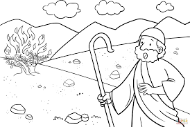 Small Picture Moses the Burning Bush coloring page Free Printable Coloring Pages