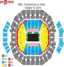 Timberwolves Seating Chart 2017 Nba Preseason Game Minnesota Timberwolves Vs Miami Heat