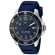 tommy hilfiger watches for men usa watches store tommy hilfiger men s quartz stainless steel and silicone automatic watch color blue model